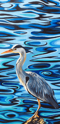 Grey Heron - Original Available