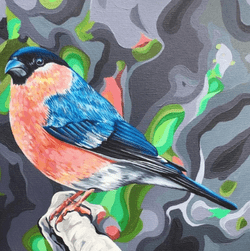 Camouflage Bullfinch - Original available -  €300