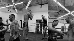 8 X World Champion Liam 'Hitman' Harisson training with Kru Tam