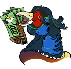 Pheasant Emote with Pile of Cash