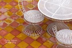 White Table and Chairs - MOROCCO