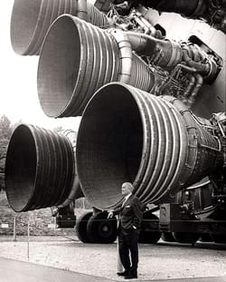 Von braun with saturn V