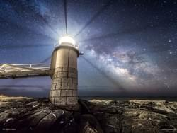 Marshall Point Lighthouse and Milky Way