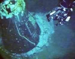 Grissom's Mercury Liberty Bell 7 capsule found 38 years after its sinking.