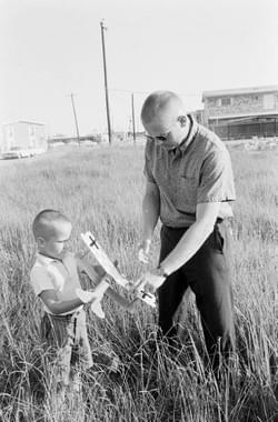 Neil Armstrong introduces his son to aviation!