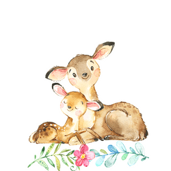 Watercolor-deer