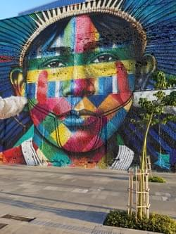 Artwork by Kobra in downtown Rio.