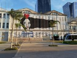 Artwork in downtown Rio.