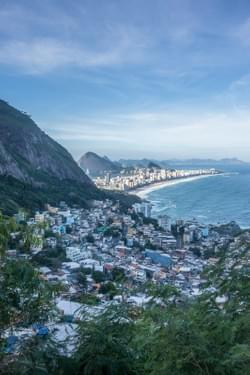 Ipanema and Leblon's beaches from Vidigal.