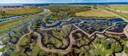 New wetland. Kaituna River. Council work. drone.