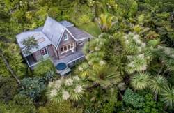 Coromandel. Driving Creek Villas. Aerial.
