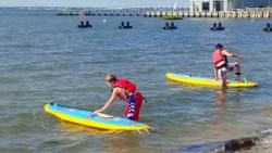 Paddle boarding at LBI
