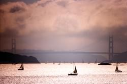 Afternoon haze and Sailboats No.2, San Francisco Bay