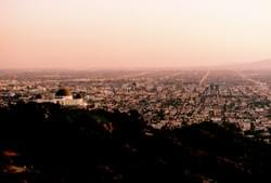 Griffith Observatory and Pink L.A. Sunset