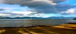 Lake Tahoe and Rainbow near Tahoe City, North Shore Ca