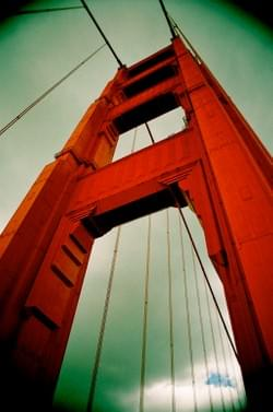 Golden Gate Bridge South Tower after storm Alden Olmsted