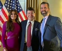 Appearing with Kimberly Guilfoyle and Donald Trump Jr.