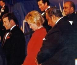 Hillary Clinton, Wayne Newton, Charlie Rangel and Quincy Jones