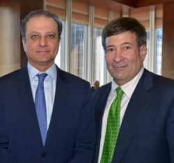 Mark Simone and US Attorney Preet Bharara