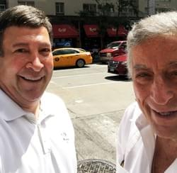 Mark takes a walk with Tony Bennett on his 90th birthday