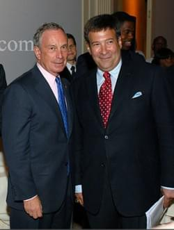 mark Simone and Michael Bloomberg