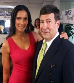 Mark Simone and Padma Lakshmi
