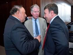 John Catsimatidis, District Attorney Cy Vance and Mark Simone