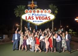 Welcome To LAs Vegas Sign Wedding