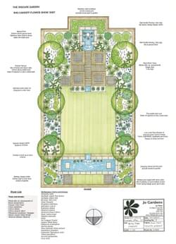 Plan drawing - Inscapes Garden