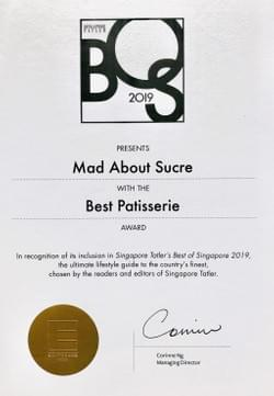 Award of Best Patisserie 2019