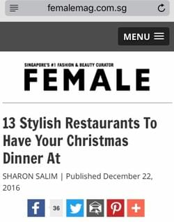 13 stylish restaurants to have your Christmas dinner