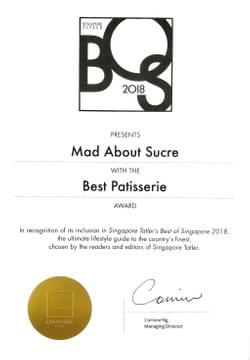 Award of Best Patisserie 2018