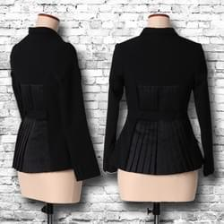 """Pleats"" jacket / black"