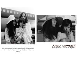 Anzu Lawson and her niece Kohana Porter replicate John & Yoko's wedding day photo holding Kyoko (Yoko's daughter)