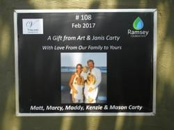 Water Well in Cambodia installed by Mark & Trina Ramsey Foundation through a donation made by Art & Janis Carty to celebrate  their family.