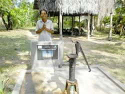 Water Well in Cambodia installed by Mark & Trina Ramsey Foundation through a donation made by Claudia Wolff & Gerd Markowitsch in celebration of his father, Gerhard Markowitsch's 77th Birthday
