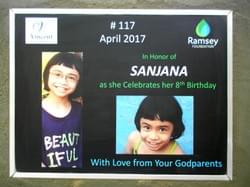 Water well in Cambodia installed by the Mark & Trina Ramsey Foundation dedicated in celebration of Sanjana's 8th birthday.