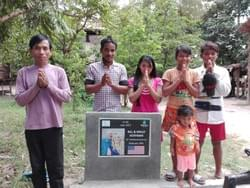Water Well in Cambodia installed by Mark & Trina Ramsey Foundation through a donation made by Molly Hoffman in celebration of their wedding anniversary