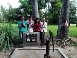 Cambodian recipients of water well donated by Mark & Trina Ramsey Foundation in memory of Norma Blum of Crestline, Ohio