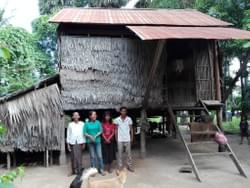 Family home of Cambodian recipients of water well donated by MTRF  in memory of Norma Blum of Crestline, Ohio