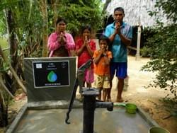 Water well in Cambodia donated in appreciation of the MTRF Logo designer, Kevin Koenig