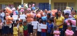 Mosquito Nets to aid in the prevention of Malaria in Cambodia, donated by the Mark & Trina Ramsey Foundation