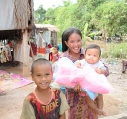 Mark & Trina Ramsey Foundation distributed an additional 50 mosquito nets to families in Cambodia thanks to donations from Bob & Ellie Pulcini, Carol Baxter, Alison Miller (& son Hunter), Brian/Kelly/Kaitlyn Randles, Debbie Sarjant and Mark & Trina....this is just one of many happy recipients!