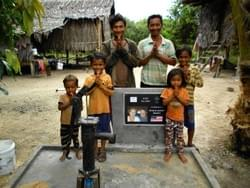 Water Well in Cambodia installed by Mark & Trina Ramsey Foundation in celebration of Dean & Audrey Ramsey