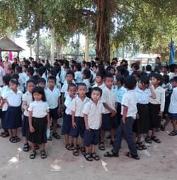 Sandals donated to Cambodian school children through MTRF