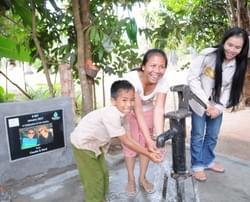 Water well in Cambodia installed by the Mark & Trina Ramsey Foundation through a donation made by  Claudia Wolff & Gerd Markowitsch