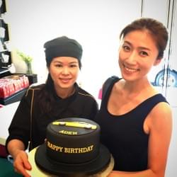 Mediacorp celebrity Kate Pang at Mad About Sucre