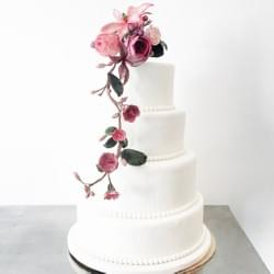 Mad About Sucre - Spring Flower drapery Wedding Cake