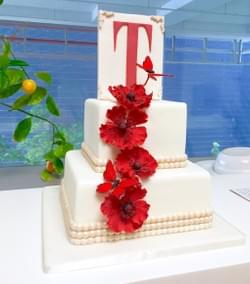 Mad About Sucre - Poppies & butterflies cake