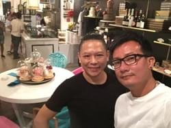 Mediacorp actor Chen Hanwei at Mad About Sucre